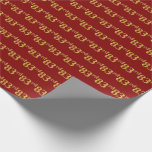 [ Thumbnail: Red, Faux Gold 83rd (Eighty-Third) Event Wrapping Paper ]