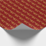 [ Thumbnail: Red, Faux Gold 85th (Eighty-Fifth) Event Wrapping Paper ]