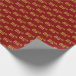 [ Thumbnail: Red, Faux Gold 86th (Eighty-Sixth) Event Wrapping Paper ]