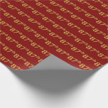 [ Thumbnail: Red, Faux Gold 87th (Eighty-Seventh) Event Wrapping Paper ]