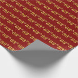 [ Thumbnail: Red, Faux Gold 88th (Eighty-Eighth) Event Wrapping Paper ]
