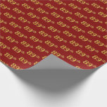 [ Thumbnail: Red, Faux Gold 89th (Eighty-Ninth) Event Wrapping Paper ]