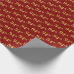 [ Thumbnail: Red, Faux Gold 94th (Ninety-Fourth) Event Wrapping Paper ]