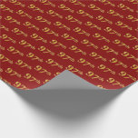 [ Thumbnail: Red, Faux Gold 97th (Ninety-Seventh) Event Wrapping Paper ]
