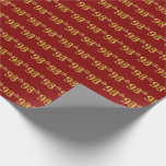 [ Thumbnail: Red, Faux Gold 98th (Ninety-Eighth) Event Wrapping Paper ]