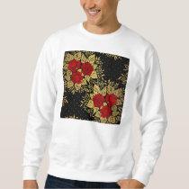 red,faux,gold,roses,pattern,chic,elegant,modern,gi sweatshirt