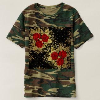 red,faux,gold,roses,pattern,chic,elegant,modern,gi