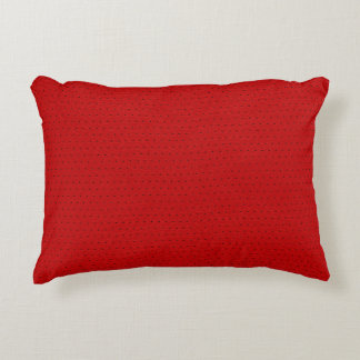 Red Faux Leather Vintage Look Decorative Pillow