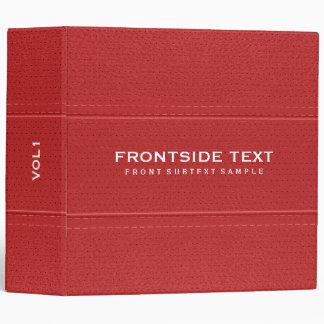 Red Faux Leather Vintage Look Look 3 Ring Binder