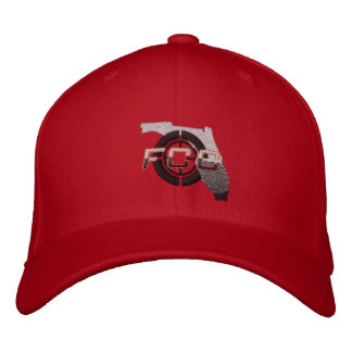 Red FCC Embroidered Cap Embroidered Hat