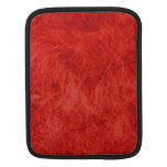 Red feather background sleeves for iPads
