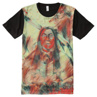 Red Feather Chief Panel T-shirt