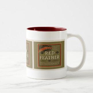 Red Feather Mug