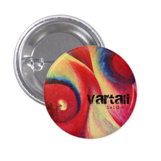 Red Feather Painting Vartali Round Button