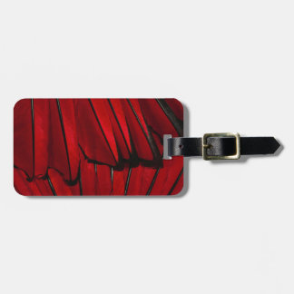 Red Feathers Luggage Tag