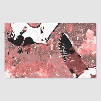 Red Feathers Rectangular Sticker