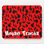 Red Feet, Mouse Tracks Mouse Pad