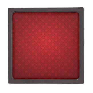 Red Felt Poker Table Design Jewelry Box