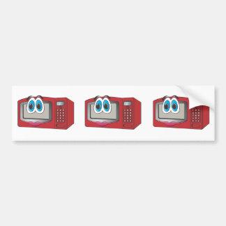 Red Female Cartoon Microwave Bumper Sticker