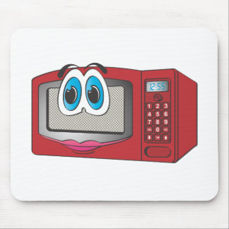 Red Female Cartoon Microwave Mousepads