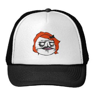 Red Female Me Gusta Comic Rage Face Meme Trucker Hat