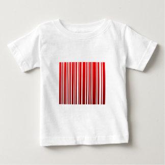 red feminine bar code baby T-Shirt