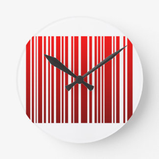 red feminine bar code clocks