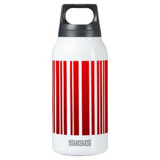 red feminine bar code insulated water bottle