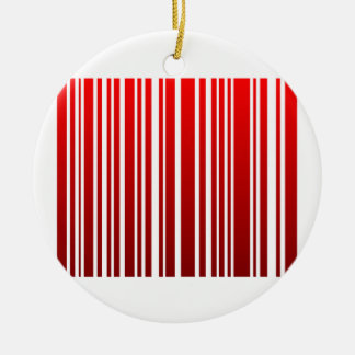 red feminine bar code Double-Sided ceramic round christmas ornament