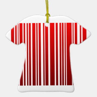red feminine bar code Double-Sided T-Shirt ceramic christmas ornament