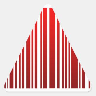 red feminine bar code triangle sticker