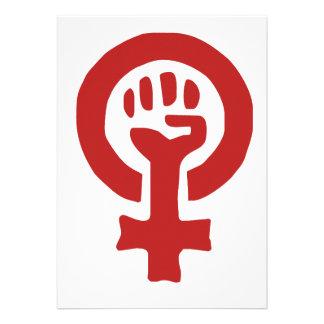 Red Feminism Symbol Announcement