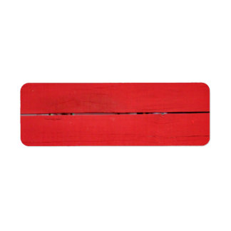 Red Fence Labels