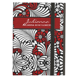 Red Fern Print Custom Tablet Case iPad Cover
