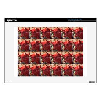 "Red ferocious bull head Heathrow Airport London UK Skin For 15"" Laptop"