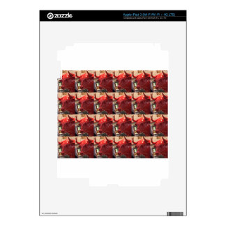 Red ferocious bull head Heathrow Airport London UK Skins For iPad 3