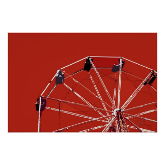 Red Ferris Wheel Poster