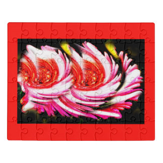 Red festive flowers jigsaw puzzle