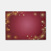 Red Festive Post-its Post-it® Notes