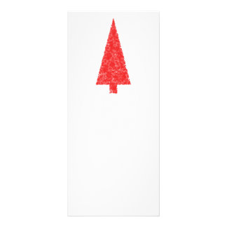 Red Festive Tree. Red and White. Christmas. Rack Card