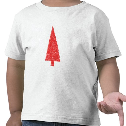 Red Festive Tree. Red and White. Christmas. Shirt