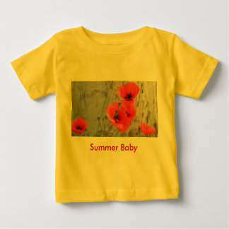 Red Field Corn Poppies Baby T-Shirt