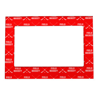 Red Field Hockey Magnetic Picture Frame