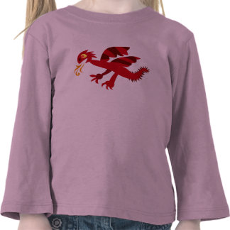 Red Fiery Dragon T-shirts