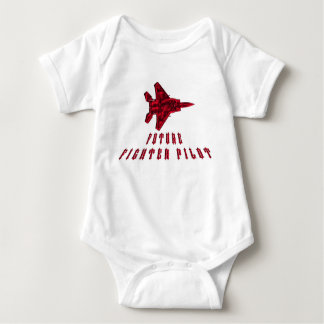 Red Fighter Jet for this future fighter pilot. Baby Bodysuit