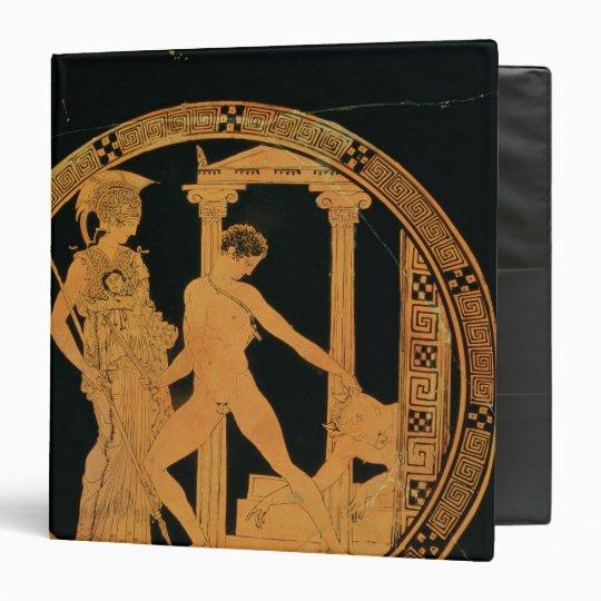 Red-figure cup depicting Athena, Theseus Binder