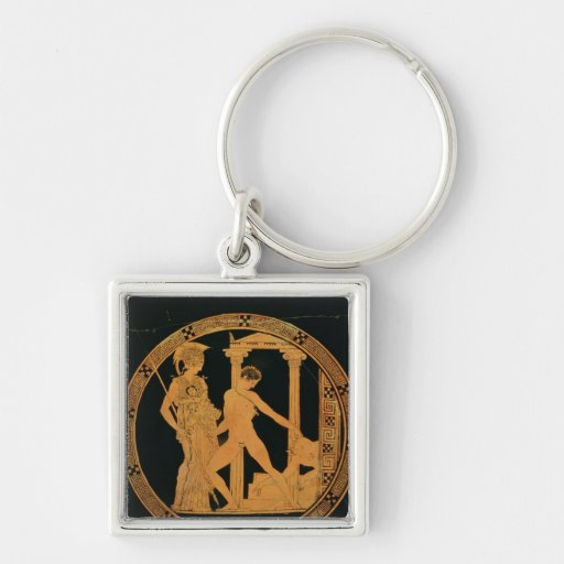 Red-figure cup depicting Athena, Theseus Keychains