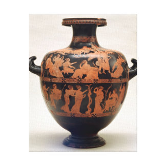 Red-figure hydria by the Medias Painter, Canvas Print