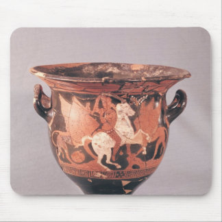 Red-figure krater depicting amazons and griffins mouse pad
