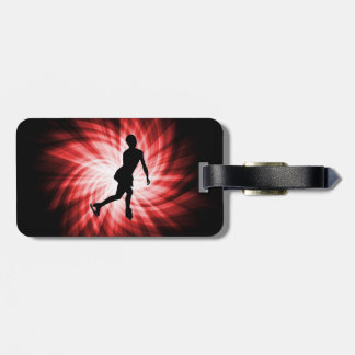 Red Figure Skating Bag Tags